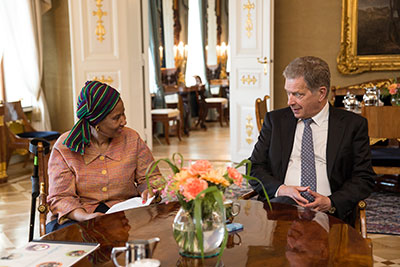 UN Women Executive Director meets with President of Finland and key partners