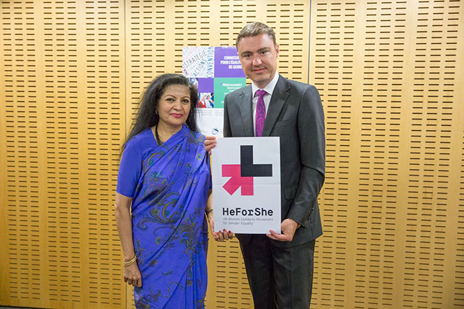 Prime Minister of Estonia joins HeForShe