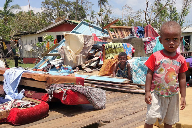 The villages of Tailevu were hit hard by Cyclone Winston destroying homes and crops. Photo: Jonathan Andrews.