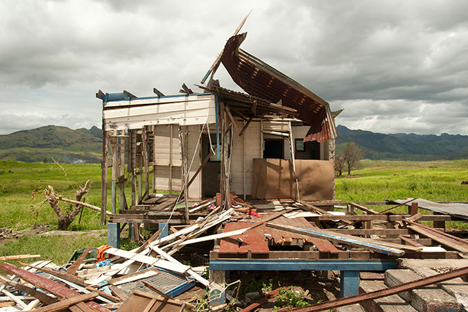An example of the destruction wrought by Tropical Cyclone Winston along the Kings Road on Viti Levu, Fiji. Credit: UN Women/Murray Lloyd