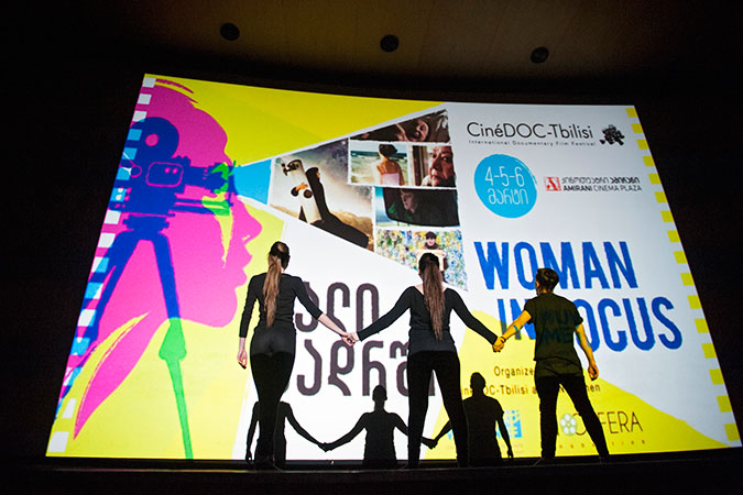 Documentary films focused on women were screened during a three-day film festival in Georgia. Photo: UN Women/Gvantsa Asatian
