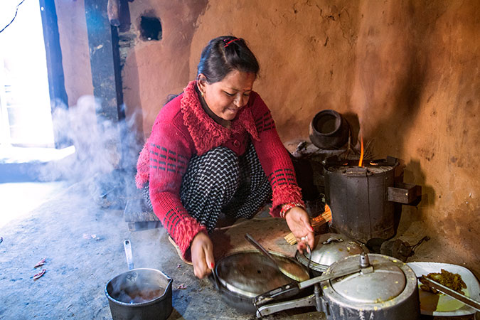 Kalpana Shrestha now takes an active part in household work and wants to start her own small business in the future. Photo: UN Women/N. Shrestha
