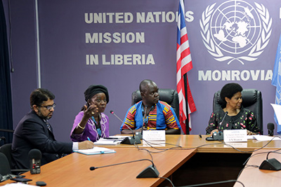 UN Women Executive Director Phumzile Mlambo-Ngcuka concluded her visit to  Liberia with a press conference. Photo: UNMIL