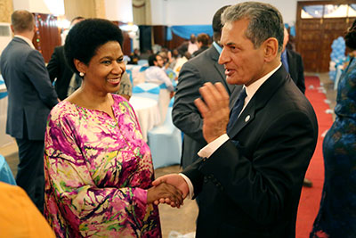 UN Women Executive Director Phumzile Mlambo-Ngcuka attended a reception hosted by the President of Libera. Photo: UN Women/Stephanie Raison