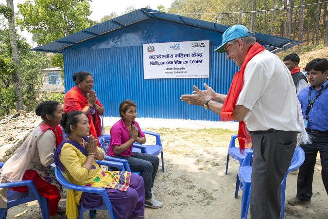 UN Deputy Secretary-General visits UN Women multipurpose centre in Nepal