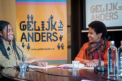 UN Women Executive Director Phumzile Mlambo-Ngcuka took part in a talk-show-style discussion during her visit to the Netherlands.