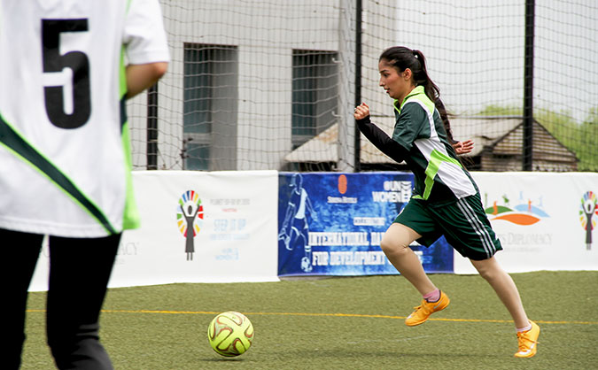 Changing young women's lives in Pakistan through football
