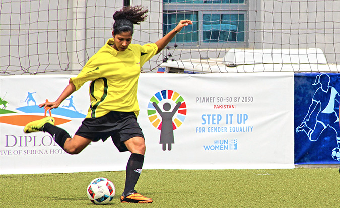 Beating gender stereotypes in Pakistan with football