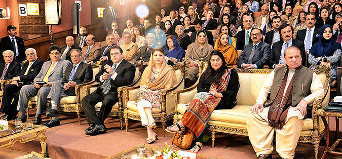 His Excellency, the Prime Minister of Pakistan along with Ms. Sharmeen Obaid-Chinoy during the screening of her documentary. Photo: Press Information Department, Government of Pakistan