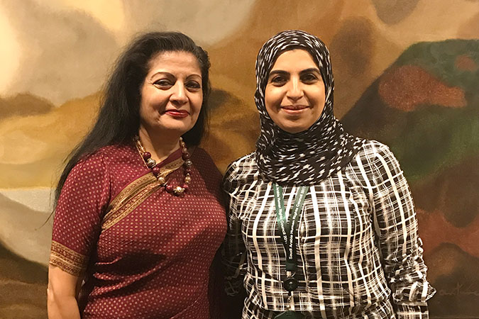 UN Women Deputy Executive Director Lakshmi Puri meets with Saudi Arabia's Human Rights Commission