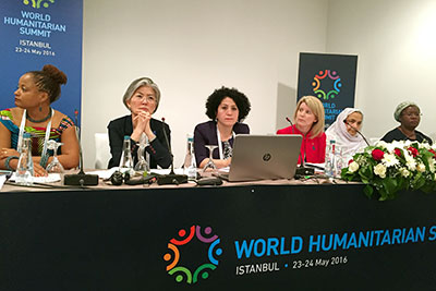 At WHS side event, participants call on global leaders to prioritize local women's groups in humanitarian response