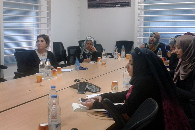 Head of Office for UN Women in Yemen meets with women leaders. Photo: UN Women