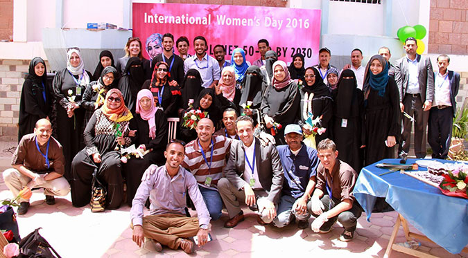UN Women in Yemen celebrates International Women's Day. Photo: UN Women