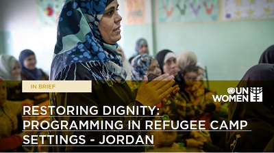 Restoring dignity: Programming in Za'atari refugee camp