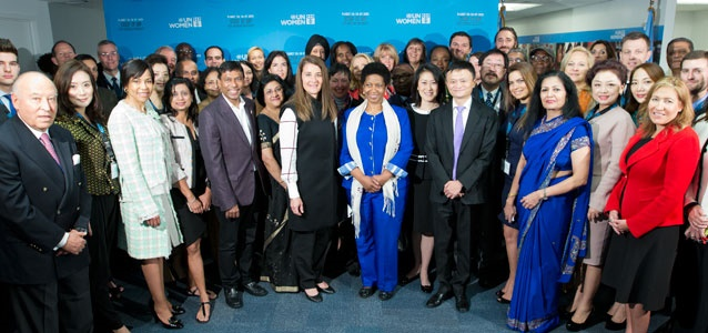 Group photo of participants at UN Women's Business and Philanthropy Leaders' Forum on 26 September, in New York. Photo: Ryan Brown