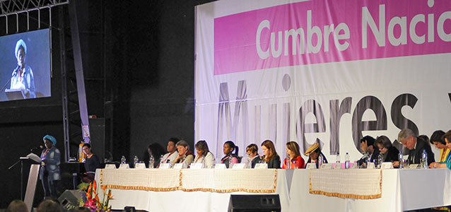 First Summit Women and Peace, October 2013. Photo: ONU Mujeres Colombia