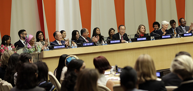 Secretary-General Ban Ki-moon  speaks at the High-Level Panel on Women