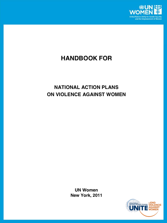 Cover: Handbook for national action plans on violence against women