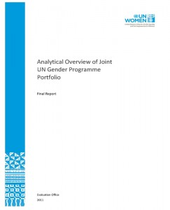 Analytical Overview of the UN Joint Gender Programmes Portfolio