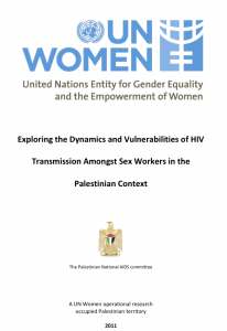 Cover: Exploring Dynamics and Vulnerabilities of HIV Transmission Amongst Sex Workers in the Palestinian Context