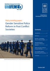 Policy Briefing Paper: Gender Sensitive Police Reform in Post Conflict Societies