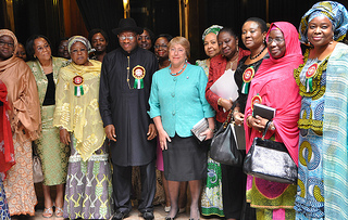UN Women Executive Director Michelle Bachelet in Nigeria