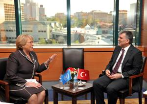 Ms. Bachelet with the President of Turkey