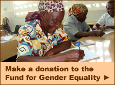 Make a donation to the Fund for Gender Equality