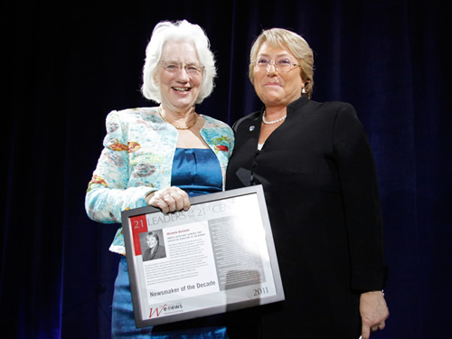 UN Women Executive Director Michelle Bachelet Receives Women's eNews Newsmaker of the Decade Award