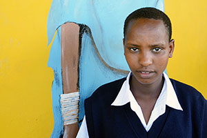 Mereso, 14, says she surely would have become a child bride had she not won a scholarship at the MWEDO girls' school.