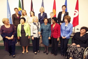 At a high-level side event during the 66th session of the UN General Assembly in New York, women political leaders made a strong call for increasing women's political participation and decision-making across the world. (Photo: UN Women/Hilary Duffy.)